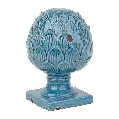 Blue Artichoke Finial Statue