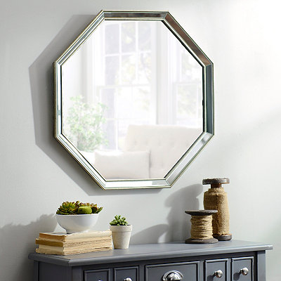 Monet Frameless Octagon Mirror, 26.5x26.5