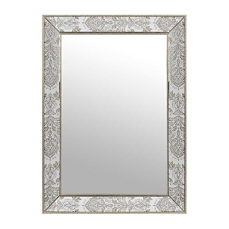 Rachel Damask Framed Mirror 30x43 Kirklands
