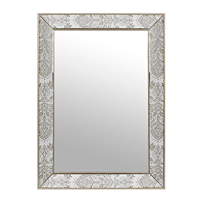 Rachel Damask Framed Mirror, 30 x 43