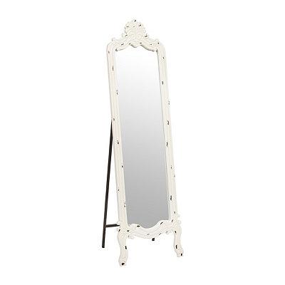 Distressed White Morgan Cheval Mirror