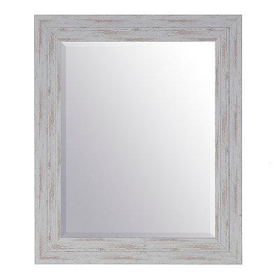 Weathered Graywash Framed Mirror, 30x36
