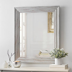 Weathered Graywash Framed Mirror, 30x36 in.