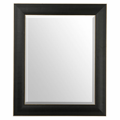 Black Wood Grain Framed Mirror, 30x36