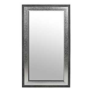 Foiled Silver Framed Mirror, 31.5x55.5