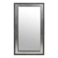 Foiled Silver Framed Mirror, 31.5x55.5