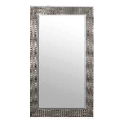 Silver Woven Framed Mirror, 31.5x55.5