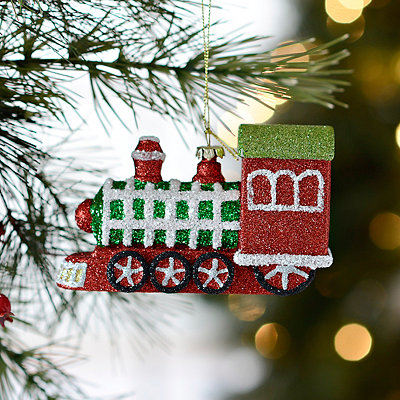 Red and Green Train Ornament
