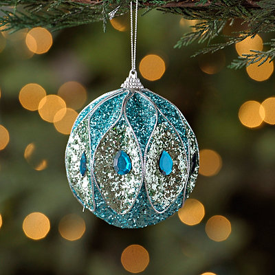 Peacock Ball Ornament