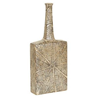 Tan Burst Ceramic Floor Vase