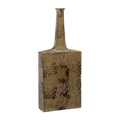Tan Texture Ceramic Floor Vase