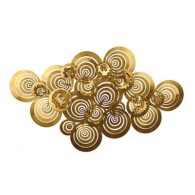 Metallic Gold Circles Metal Wall Plaque