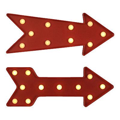 Red LED Retro Arrow Plaques