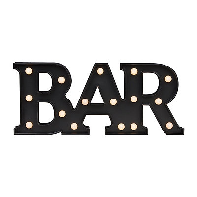 Black LED Bar Sign