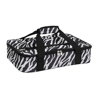 Black Zebra Insulated Casserole Carrier