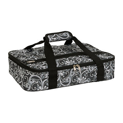 Fancy Scroll Insulated Casserole Carrier
