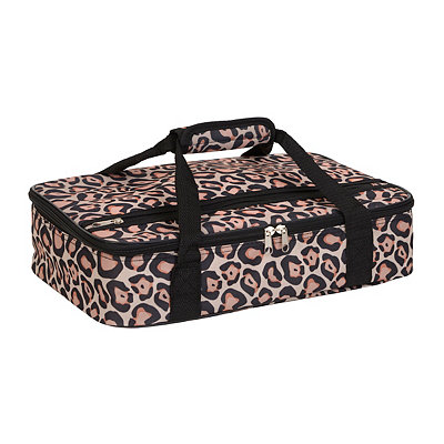 Pink Leopard Insulated Casserole Carrier