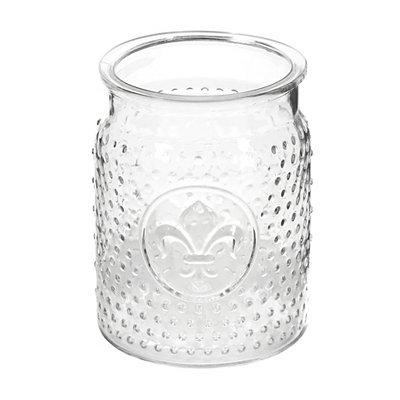 Glass Fleur-de-lis Utensil Holder