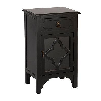 Black Quatrefoil Side Table