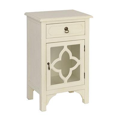 Ivory Quatrefoil Side Table