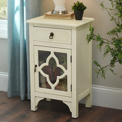Ivory Quatrefoil Side Table