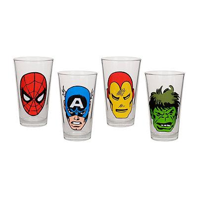 Marvel Vintage Comic Glasses, Set of 4