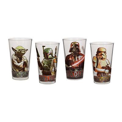 Star Wars Character Glasses, Set of 4