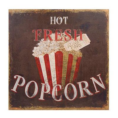 Hot Fresh Popcorn Canvas Art Print