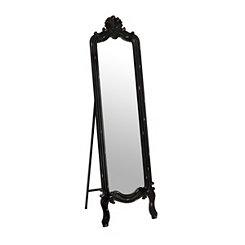 Distressed Black Morgan Cheval Mirror