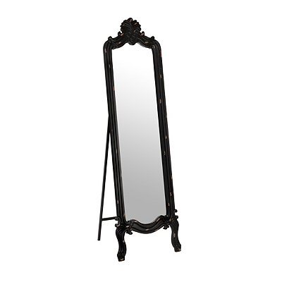 Distressed Black Morgan Cheval Mirror