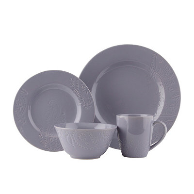 Lavender Paisley Vine 16-pc. Dinnerware Set