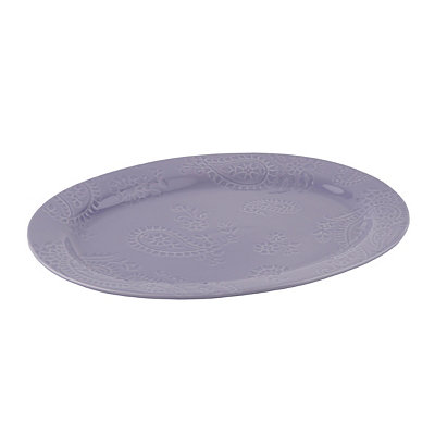 Lavender Paisley Vine Oval Platter