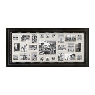 Black 25-Opening Collage Frame