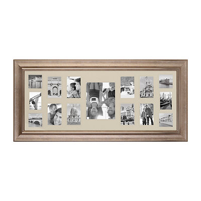 Antique Silver 15-Opening Collage Frame