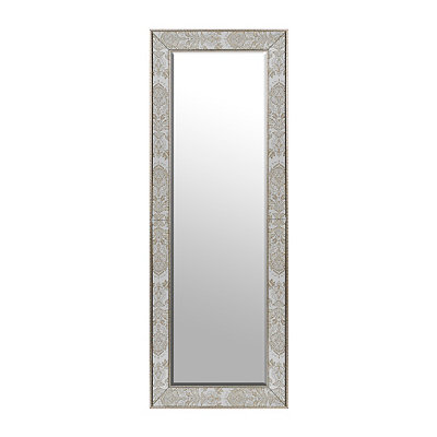 Stephanie Damask Framed Leaner Mirror, 26x72