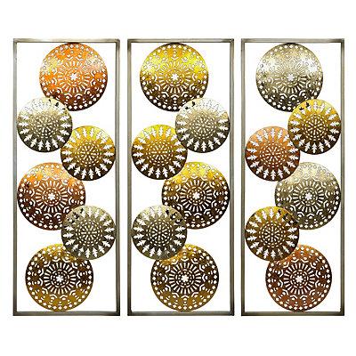 Mixed Metallic Medallion Metal Plaques
