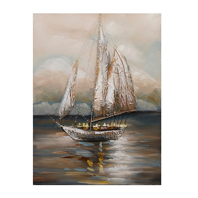 Moonlight Voyage Canvas Art Print