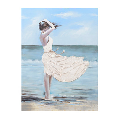 Windy Beach Canvas Art Print
