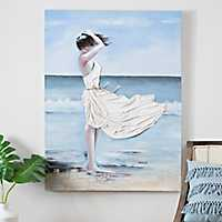 Windy Beach Canvas Art