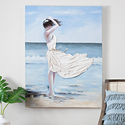 Windy Beach Canvas Art
