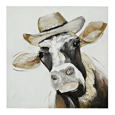 Fred the Cow Canvas Art