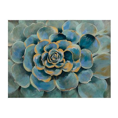 Turquoise Succulent Canvas Art Print