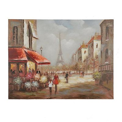 Parisian Stroll Canvas Art Print