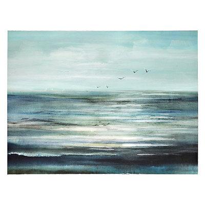 Flight Over Water Canvas Art Print