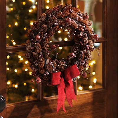 Pine Cone and Bell Wreath