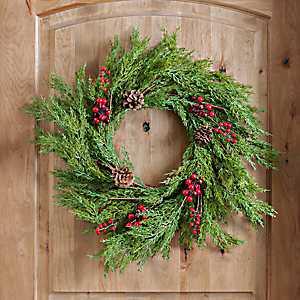 Cedar and Pine Cone Wreath