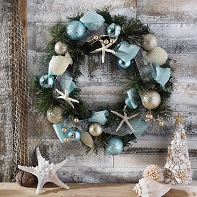 Aqua Coastal Wreath