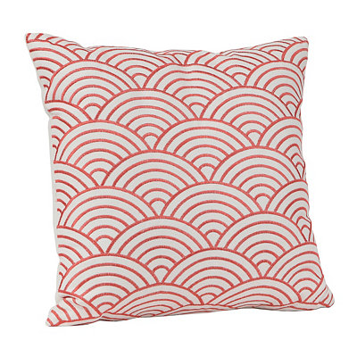Delma Embroidered Red Pillow