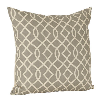 Gatlin Interlock Gray Pillow