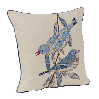 Mifflin Patchwork Bird Pillow